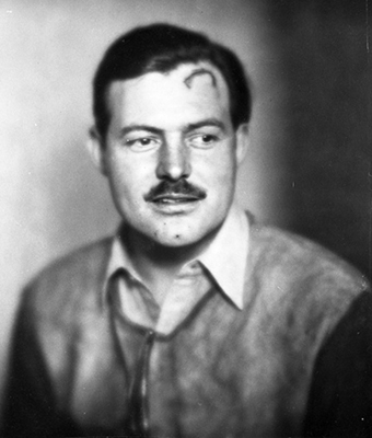 Ernest Hemingway. Photo credit: Helen Breaker. John F. Kennedy Presidential Library and Museum, Boston.