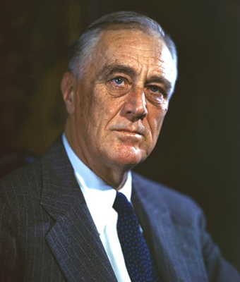 Franklin Delano Roosevelt. Photo credit: FDR Presidential Library & Museum