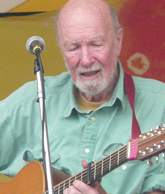 Pete Seeger. Photo credit: Dan Tappan on www.flickr.com